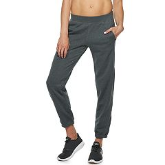 Petite Tek Gear® Fleece Banded Bottom Mid-Rise Sweatpants