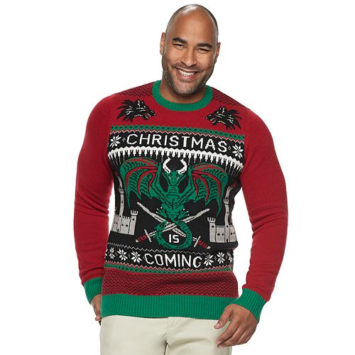 big tall game of thrones christmas sweater - Big And Tall Christmas Sweaters