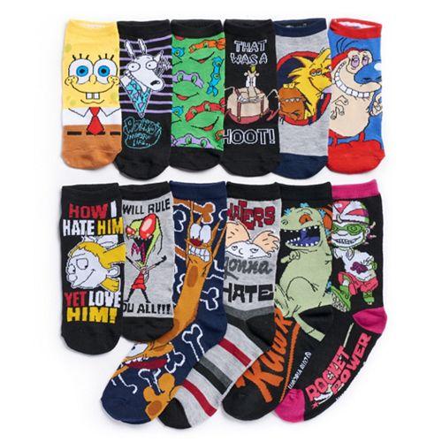 Women's Nickelodeon 12 Days Of Socks Advent Calendar Set