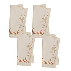 Celebrate Fall Together 'Give Thanks' Cloth Napkin 4-pack