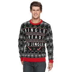 Men's 'Single & Ready To Jingle' Christmas Sweater