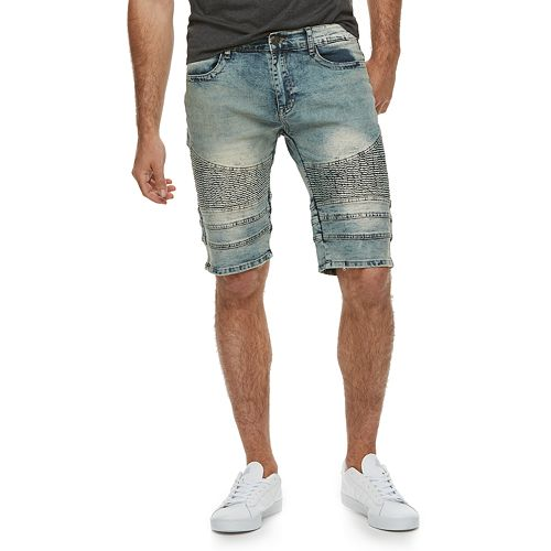 d69ee07bcd Men's XRAY Slim-Fit Washed Moto Stretch Denim Shorts