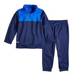 Toddler Boy Jumping Beans® Mock Neck 1/4-Zip Pullover Jacket & Jogger Pants Set