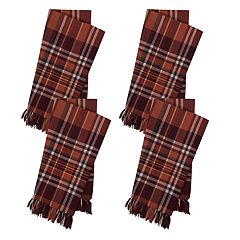 Celebrate Fall Together Blanket Plaid Napkin 4-pack