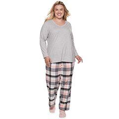 Plus Size SONOMA Goods for Life™ 3-Piece Tee, Pants & Sock Pajama Set