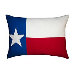 Spencer Home Decor Texas Flag Oblong Throw Pillow