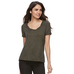 Women's Rock & Republic® Twisted Scoopneck Tee