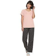 Women's SONOMA Goods for Life™ 3-piece V-Neck Sleep Tee, Pants & Sock Pajama Set