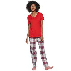 Women's SONOMA Goods for Life™ 3-piece V-Neck Tee, Pants & Sock Pajama Set