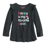 Toddler Girl Jumping Beans® Glittery Graphic High-Low Hem Tee