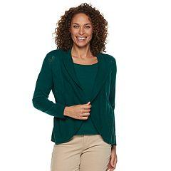Petite Croft & Barrow® Layered Look Sweater