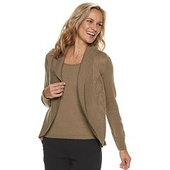 Petite Croft & Barrow® Layered Look Sweater