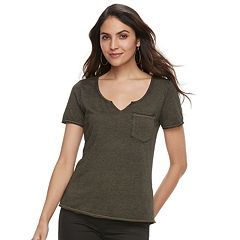 Women's Rock & Republic® Raw-Edge Boyfriend Tee