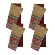 Celebrate Fall Together Pumpkin Jacquard Napkin 4-pack
