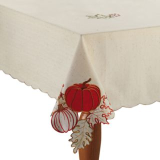 Celebrate Fall Together Pumpkin Cutout Tablecloth