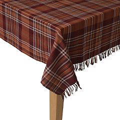Celebrate Fall Together Blanket Plaid Tablecloth