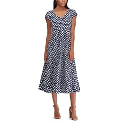 Petite Chaps Print Short Sleeve Jersey Dress