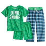 Boys 4-8 Carter's Dino-Snore 3-Piece Pajama Set