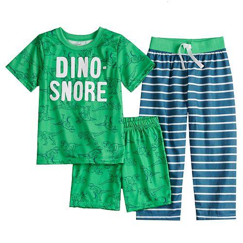 6e19aa3d4671 Boys 4-8 Carter s Dino-Snore 3-Piece Pajama Set