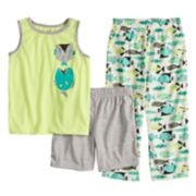 Boys 4-8 Carter's Fish 3-Piece Pajama Set