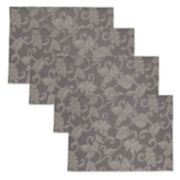 Celebrate Fall Together Solid Gray Placemat 4-pack