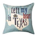 Spencer Home Decor ''I Left my Heart in Texas'' Throw Pillow