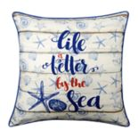 Spencer Home Decor ''Better by the Sea'' Throw Pillow