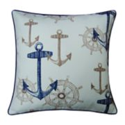 Spencer Home Decor Anchors & Wheels Throw Pillow