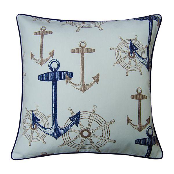 Spencer Home Decor Anchors Wheels Throw Pillow