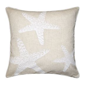 Spencer Home Decor Three Starfish Throw Pillow