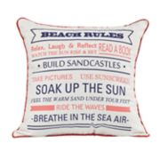 Spencer Home Decor ''Beach Rules'' Throw Pillow