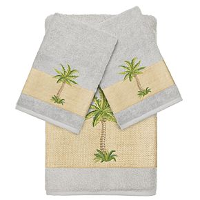Linum Home Textiles 3-piece Colton Embellished Bath Towel Set
