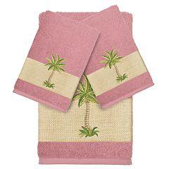 Linum Home Textiles 3-piece Colton Embellished Bath Towel Set