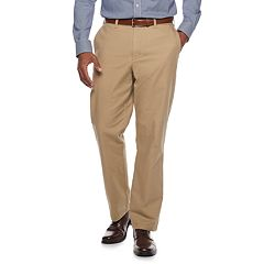 Men's Croft & Barrow® Classic-Fit Flannel-Lined Canvas Chino Pants