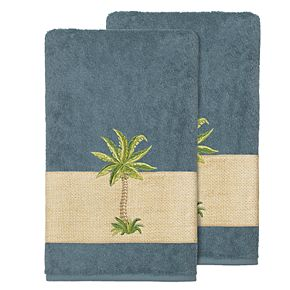 Linum Home Textiles Colton Embellished Bath Towel Set