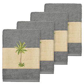 Linum Home Textiles Colton Embellished Washcloth Set