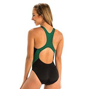 Plus Size Dolfin Ocean Performance Back Colorblock One-Piece Swimsuit