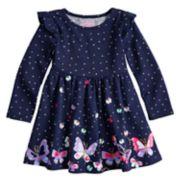Toddler Girl Jumping Beans® Ruffled Shirred Glitter Dress