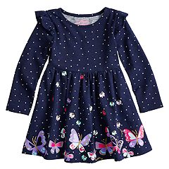 Toddler Girl Jumping Beans® Ruffled Shirred Glitter Dress
