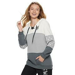 Juniors' Harry Potter Hogwarts Lace-Up Graphic Hoodie