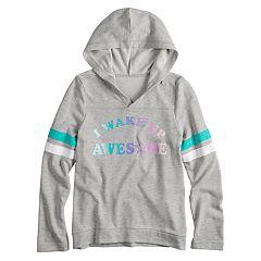 Girls' 7-16 SO® Varsity Graphic Hooded Sweatshirt