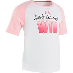 Girls 4-6x Under Armour 'Girls Always Win' Performance Tee