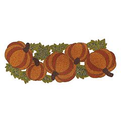 Celebrate Fall Together Beaded Pumpkin Table Runner - 36'