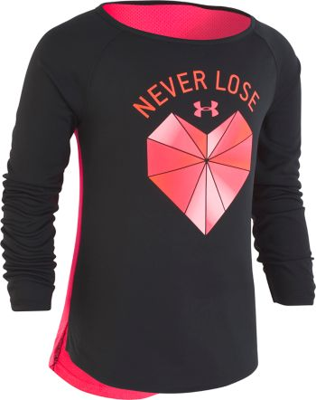"Girls 4-6x Under Armour ""Never Lose"" Heart Graphic Tee"