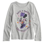 "Disney / Jumping Beans® Minnie Mouse Girls 4-10 ""Have a Happy Thanksgiving"" Glitter Graphic Tee"