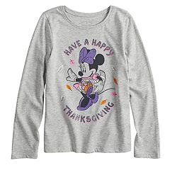Disney / Jumping Beans® Minnie Mouse Girls 4-10 'Have a Happy Thanksgiving' Glitter Graphic Tee