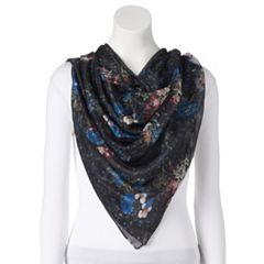 Women's Apt. 9® Floral Chiffon Square Scarf