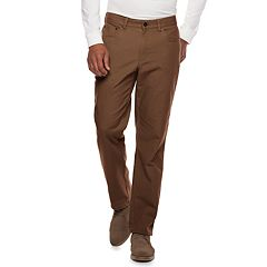 Men's Croft & Barrow® Straight-Fit Flannel-Lined Canvas 5-Pocket Pants