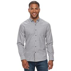 Men's Marc Anthony Slim-Fit Solid Stretch Woven Button-Down Shirt
