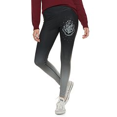 Juniors' Harry Potter Hogwarts Crest Ombre Yoga Leggings